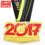 熱い販売のカスタムスポーツの金によってめっきされる3D効果の金属プラスチック金メダル