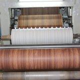Papel impregnado melamina de madera roja del grano de la teca para el conglomerado (8166-1)