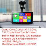 """2017 Verkoop 7.0 het """" Androïde Streepje DVR van de Fabriek van de Auto met Volledige VoorCamera HD1080p; De achter Camera van het Parkeren; De Zwarte doos van de Auto van Adas, Externe 3G PC van de Tablet"""