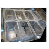 Visualizzazione approvata del gelato del Ce con la vaschetta dell'acciaio inossidabile