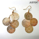 Bohemian Style Beach Seaside Style Arm Copper Gold Round Circle Earring