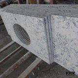 Cor de mármore Bancada de cozinha de quartzo artificiais 061303