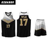 China-billig Digital sublimierte gedruckte kundenspezifische Basketball-Hemden (BK029)