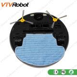 강력한 흡입을%s 가진 주황색 까만 로봇 진공 청소기 및 원격 제어