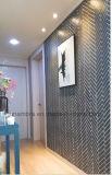 mattonelle della parete del mosaico della porcellana lustrate spina di pesce opaca grigia di 32.5X145mm