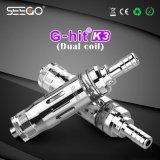 누설 기름 유리제 분무기 Seego는 K3 연기가 나기를 위한 본래 디자인 Rda 분무기 E 관을 G 명중하지 않았다