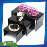 3 niveaux de vernis à ongles de présentoir acrylique avec les diviseurs, commerce de gros de l'acrylique composent Fournisseur de support d'affichage de la Chine