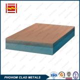 Клад биметаллической пластины материалов, используемых в газовой и нефтехимической промышленности масла/сосуд под давлением