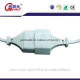 Cabo de potência da lâmpada da lâmpada de sal dos EUA/sal de América com interruptor rotativo e a asa E12 reta