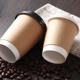 Desechables logotipo promocional personalizado papel 12oz de doble pared tazas de café con tapas