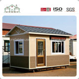 Pequeño y lujoso edificio de la cabina prefabricada Estructura de acero modulares prefabricados que viven Casa Casa en venta