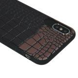 Schwarzweiss-Streifen-Deckel-Handy-Shell für iPhone 8 X Matt-TPU Telefon-Kasten