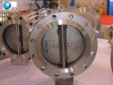 De roestvrij staal Van een flens voorzien Klep van de Controle van de Schommeling van de Klep niet Reture van de Plaat van het Wafeltje van het Eind Dubbele