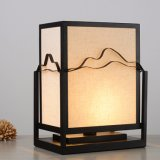 Lampada di legno bianca quadrata economizzatrice d'energia della Tabella di retro disegno