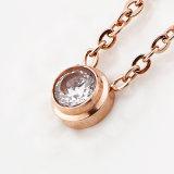 Levering voor doorverkoop van de Juwelen van de Tegenhanger van de Charme van CZ van het Bergkristal van de douane de Goud Geplateerde
