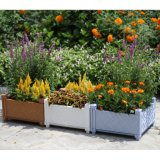 Potenciômetro de Flores empilháveis Square monte a plantadeira de cama com Jardim