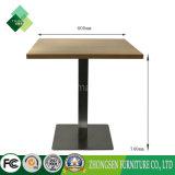 販売のためのステンレス鋼のコーヒーテーブルとの新しい正方形の木