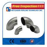 Ss 316 ANSI ASME B16.9の磨かれたステンレス鋼の肘