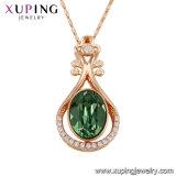 43162 Xuping Aleación de cobre chapado en oro Mayorista de cristales de Swarovski Collar de diamantes de imitación