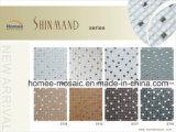 Mattonelle di mosaico di vetro del diamante della miscela di Crackle del ghiaccio per il disegno interno