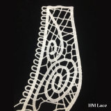 o laço do aparamento do colar da largura de 32cm com teste padrão do círculo barato e casamento elegante da alta qualidade recolheu a guarnição do laço da tomada de fábrica da tela Hml8677 do poliéster do sequaz