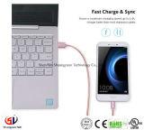 Кабель micro-USB (3 футов) , Ultra долговечный металлический Пэт доказательства кабель Tangle-Free 2.4A быстрая зарядка кабель кабель питания
