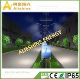 Novo Design Alishine Manufacturer 120W lâmpadas de dupla luz Rua Solar com caixa do AD