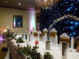 2018 contexte ignifuge de vente chaud du rideau DEL en étoile du mariage DEL