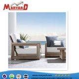 Sofà personalizzato impostato con la mobilia esterna di svago di legno del teck con l'ammortizzatore asciutto rapido della gomma piuma