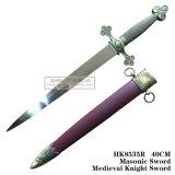 Украшение 40cm HK8535/HK8535r дома шпаги рыцаря Masonic шпаги средневековое