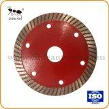 105mm Turbo super delgada Hoja de sierra de disco de diamante de corte herramientas de hardware para cerámica