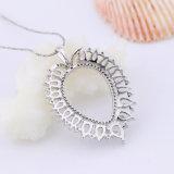 Silberner Schmucksache-Großverkauf der Birnen-Form-hängende Halsketten-925