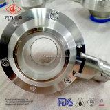 Valvola a sfera sanitaria della farfalla dell'acciaio inossidabile di prezzi di fabbrica 304/316L