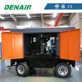 Compresor de aire portable diesel del tornillo con el camino de conexión