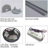 4115 Perfil de LED de aluminio de 60 grados en los armarios de la luz de LED