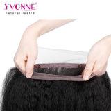 Formato diritto crespo frontale di vendita caldo 13*4 del merletto brasiliano dei capelli umani 360