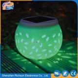 Réverbère solaire de jardin imperméable à l'eau blanc chaud de la céramique DEL