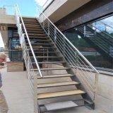Barandilla montada cara de Rod del acero inoxidable del diseño de la escalera y del pasamano del balcón