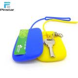 Nette Finger-Farbe Belüftung-Gummipressung-Münzen-Fonds Keychain