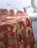 Paño de encargo de la mesa redonda del telar jacquar del hotel del lino de vector del diseño moderno
