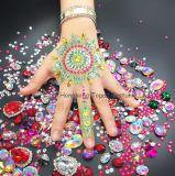 Corpo tatuagem temporária autocolante Gem arte corporal Beleza Henna Indiana Rhinestone lado adesivo para uma tatuagem do braço (J12)