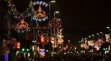 Diodo emissor de luz através da iluminação do motivo da rua para a luz de rua da decoração de Diwali