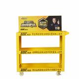 Supermarché de biens mobiliers à roues de plaque de métal Rack d'affichage de la batterie