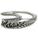 braccialetto Handmade d'argento di Chainmail dell'acciaio inossidabile di 8mm