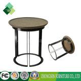 熱い販売の居間の家具の鉄骨フレームの木製のコーヒーテーブル