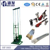 Pequeña plataforma de perforación eléctrica del receptor de papel de agua para la plataforma de perforación rotatoria portable de la venta (hf180j)