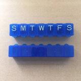 7 Dias Caixa de pílulas de plástico