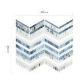 Синий линейных витраж мозаика для телевизора Справочная информация
