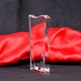 Concesión barata al por mayor del trofeo del vidrio cristalino del precio
