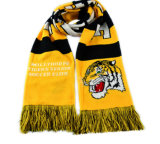 Шарф футбола шарфа вентиляторов шарфа Tassel связанный с подгонянным логосом